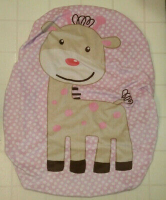 Summer Infant Standard Contour Changing Table Pad Cover Giraffe Pink Dots Minky