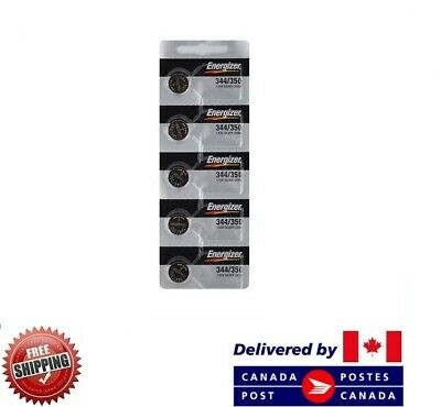 5 PCS ENERGIZER 350 Watch Batteries 0% MERCURY SR1136SW 350/344 CDN SELLER
