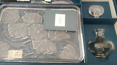 Waterford Crystal Make Up set (Brush, Tray, and Perfume Bottle)