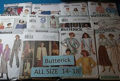 A Butterick ~ All Patterns are Size 14-18 (14,16,18) U-PICK ~ 31+ Listed ~ #3090