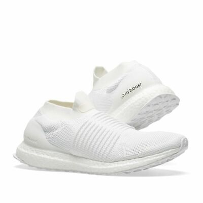 5372dcb02a924 ADIDAS ULTRABOOST LACELESS Mens WHITE Running Shoes BB6146 Sz 10.5 Ultra  BOOST
