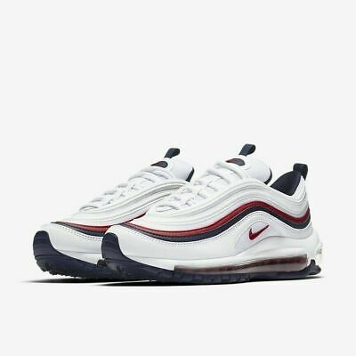 new products e656b 861bc Nike Air Max 97 OG BIANCO ROSSO BLU 100% ORIGINALE Scarpe Nike Air Max 97