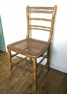 Antique Regency Faux Bamboo Chair