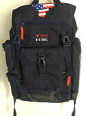 ec19a4eba0ec Under Armour Project Rock Blue Backpack RARE OUT OF PRODUCTION Regiment USA