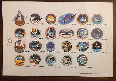 fa0f2b0f NASA DECAL LOT Apollo 15 Orbiter Manned Spacelab Patches Columbia Space.