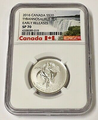 2016 Canada S$20 Tyrannosaurus Rex Early Releases NGC SP 70