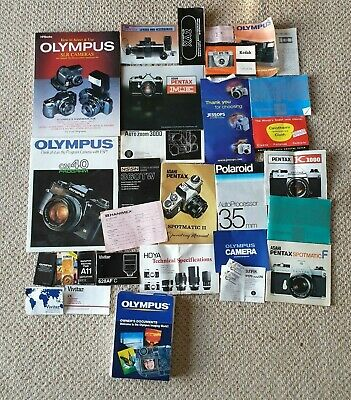 20 + Books, Brochures, Manuals Olympus Pentax in Good Condition