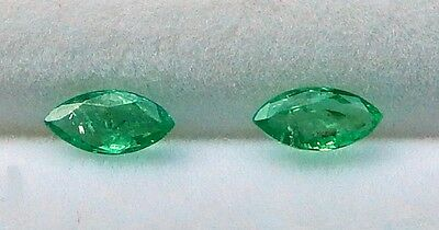 Genuine Natural Emerald Gemstones Marquise Faceted 2.2x4.8mm Range( .32-.56cts.)