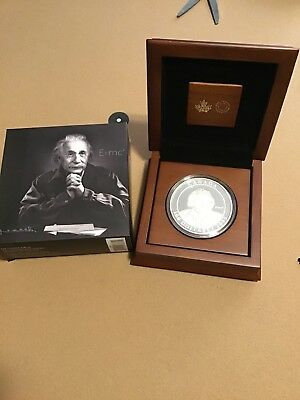 2015 10 oz Royal Canadian Mint $100 Albert Einstein Silver Coin - Mintage 1,500