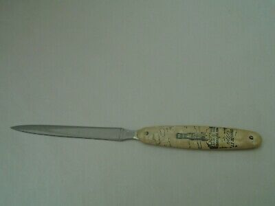 Lovely vintage BRUGES LE BEFFROI letter opener with mother of pearl handle  LOOK