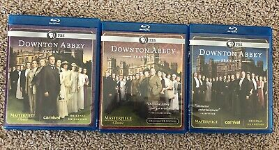 Masterpiece: Downton Abbey DVD Blu-Ray Seasons 1, 2 & 3 1-3