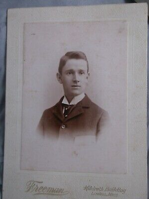Cabinet Card Photo Handsome Young Man Gentleman  VTG Antique Late 1800s MASS