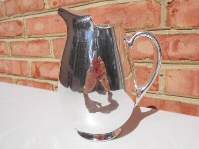 Fine Vintage Barker Ellis England Silverplate Milk Juice Pitcher Menorah Mark