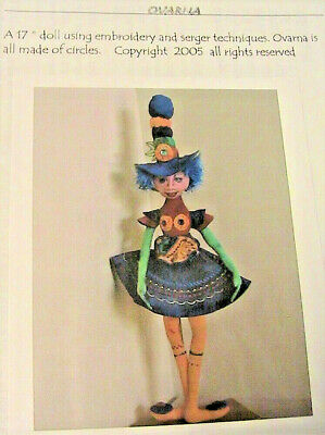 "PATTERN /""PEPPER POTHOLDER/"" BY JACQUIE LECUYER PAPER *NEW* CLOTH ART DOLL"