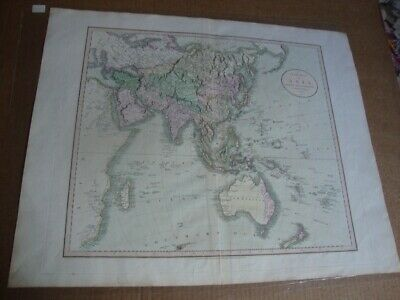 Rare Original J. Cary A New Map Of Asia From Latest Authorities Folio 1806.
