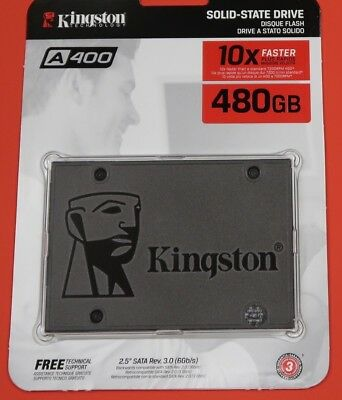 "Kingston 480GB SSD A400 2.5"" SATA 3 III SA400S37/480G Internal Solid State Drive"