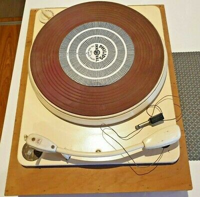 Vintage Collaro 4 Speed 4T200 Transcription Unit/turntable & Awa Magictape Recor