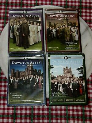 Downton Abbey Seasons 1-4 Original Uk Edition 1 2 3 4 One Two Three Sealed Four