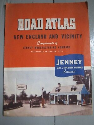 Vintage JENNEY Aero Super Aero Solvenoil Oil Gas Station Road Atlas Sign
