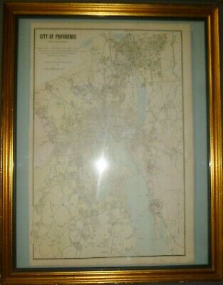 "1895 WESTGARD - ""City of Providence"" RI - Extremely RARE 19th C. American Map"