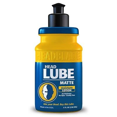 New Headblade HeadLube Lotion Matte Post Shave Moisturiser 5oz ~150ml with pump*