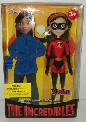 "2004 Disney Store Pixar THE INCREDIBLES Doll VIOLET 11"" Tall NEW"