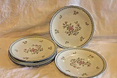 NORITAKE china JARDINE 6208 pattern LOT OF 4 Bread and Butter Plates
