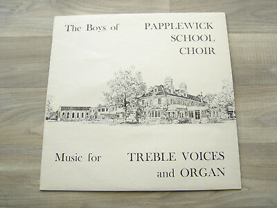 CHORAL LP CLASSICAL private BOYS OF PAPPLEWICK SCHOOL CHOIR