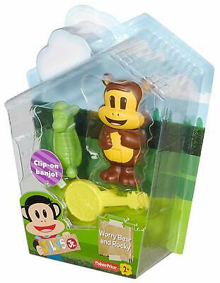 Fisher-Price Julius Jr. Worry Bear And Rocky Figure With Clip-On Bankjo Toy