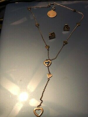 Tiffany 925 Jewelry Lot (Necklace, Earrings and Pendant)