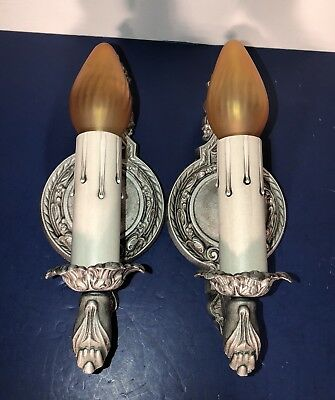Pair of Brandt Manufacturing Company 1920's very decorative sconces 63D