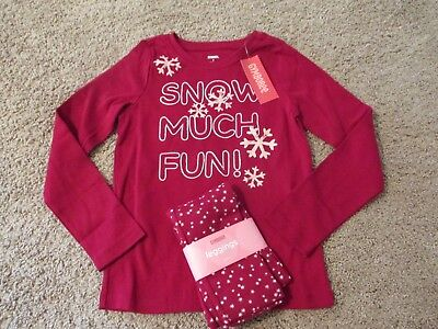 NWT Gymboree Penguin Chalet 5 6 7 9 10 Red Snowflake Shirt Top Snow Much Fun NEW