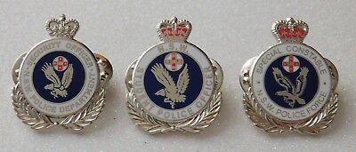 NSW Police Student, Security & S/Constable 3.0cm high Lapel Pins (Not Official)