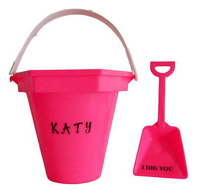 1 - Personalized Colorful Sand Bucket and shovel
