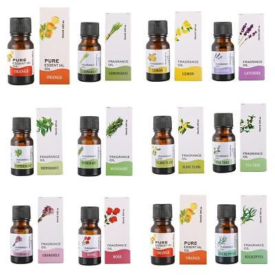 100% Pure Natural 10ml Essential Oils Carrier Oil Aromatherapy Grade Health H6Z0