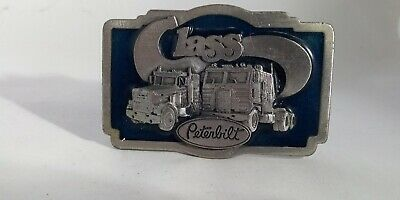 Vintage 70s Tonkin Belt Buckle Class Peterbilt Semi Truck 1978 Trucker Retro