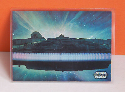 Star Wars The Force Awakens series 1 Foil Concept Art card 8 Hyperspace /250