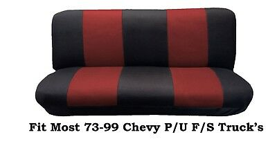 Swell Mesh Black Red Full Size Bench Seat Cover Fit Most 73 99 Cjindustries Chair Design For Home Cjindustriesco