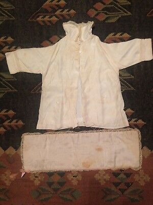 Vintage Baptism/Christening Gown Button Down Coat With Blanket Circa 1950's