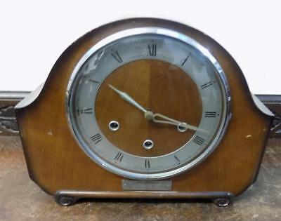 walnut westminster chimes mantel clock
