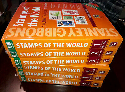 Stanley Gibbons 2018 Stamps of the World catalogue in 6 volumes, full colour NEW