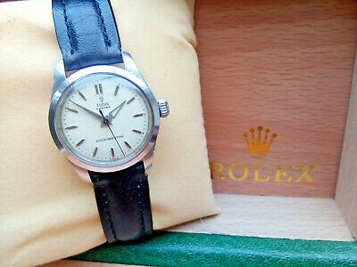 Beautiful Gents Mid Sized 1955 Rolex Tudor Oyster Watch Great Condition & Boxed
