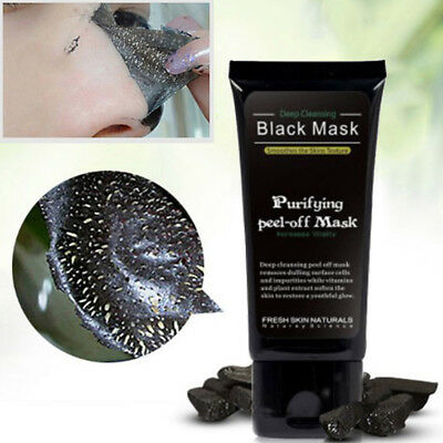 1Pc Blackhead Remover Deep Cleansing Purifying Acne Peel Black Mud Face Mask NT