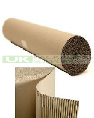 1 SMALL CORRUGATED CARDBOARD PAPER ROLL 600mm WIDE x 5 Metres PACKING - NEW
