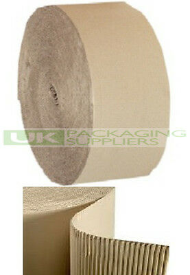 10 SMALL CORRUGATED CARDBOARD PAPER ROLLS 300mm WIDE x 75 Metres PACKING - NEW