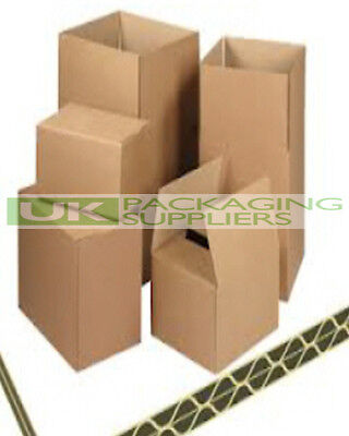 "5 x LARGE DOUBLE WALL CARDBOARD BOXES SIZE 20x16x16"" HOUSE MOVING REMOVAL"