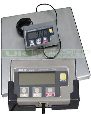 "JSHIP HEAVY DUTY DIGITAL ELECTRONIC SCALES MAX WEIGHT 150KG 12x15"" PLATFORM NEW"