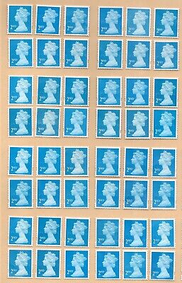 "100 2nd Class blue ""A"" grade Unfranked GB Stamps (Peelable)7"
