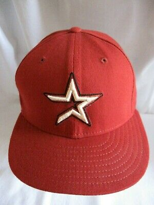 1a68816f8f518 VINTAGE HOUSTON ASTROS Fitted Hat 90s New Era MLB Size 7 1 4 Wool ...