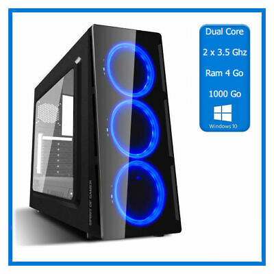 PC Puissant - 2 x 3.50 Ghz  - Ram 4 Go - HDD 1000 Go - Windows 10